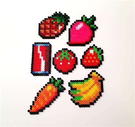 perler bead food fruits and vegetables perler hama