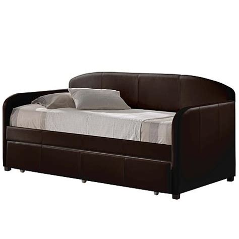 hillsdale furniture springfield brown trundle day bed springfield daybed with trundle brown 6662290 hsn