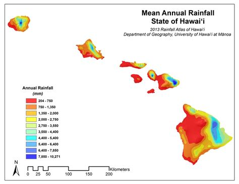 weather pattern in hawaii rainfall atlas of hawaii rainfall