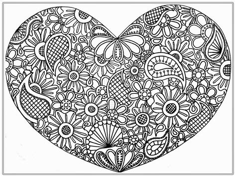 realistic heart coloring page coloring pages heart pictures to color for adult