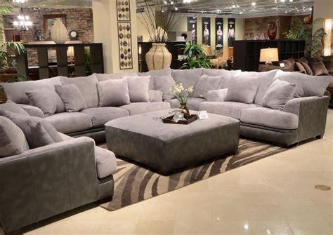jackson furniture barkley  piece sectional set  grey