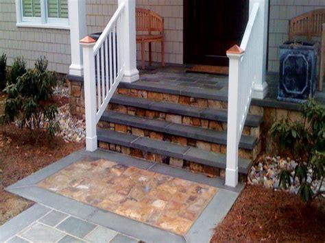 stone patios concrete front porch step ideas front steps