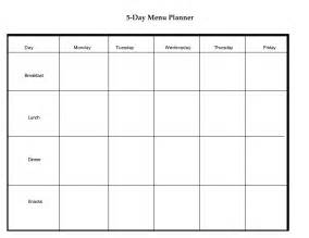 3 day calendar template 6 best images of 5 meal planner menu printable free