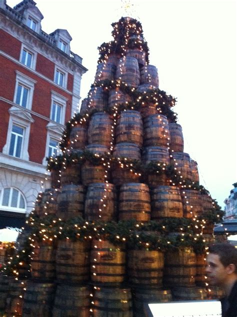wine barrel christmas tree the barrel tree in covent garden pinned for my wine enthusiasts in lodi