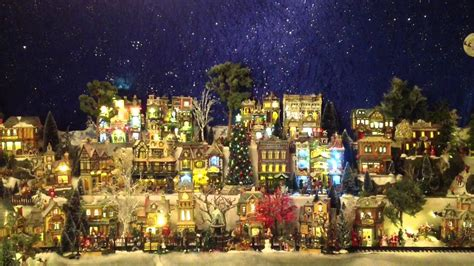 model christmas village display wizards in winter song