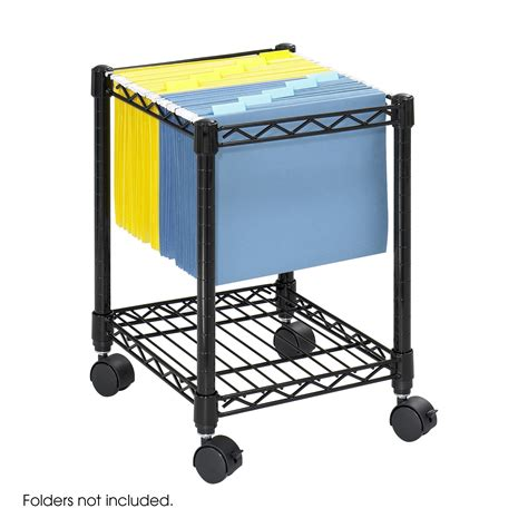 rolling file cart compact mobile file cart safco products