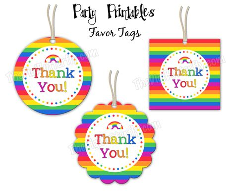 printable thank you tags for birthday favors 4 best images of free printable thank you party favor tags