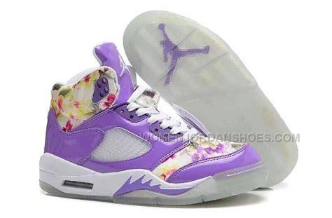 flower pattern jordans nike air jordan 5 floral girls purple white online for