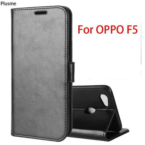 for oppo f5 6 0 quot shockproof high quality flip pu leather wallet for oppo f5 phone cover