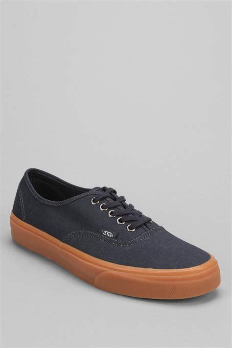 Vans Authentic Rubber Gum vans authentic gum sole sneaker in blue for lyst