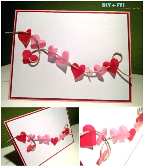 day card ideas adorable valentines day handmade card ideas pink lover