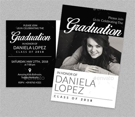 template graduation photo card graduation card template 23 free printable sle