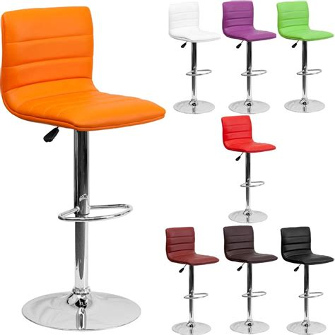 Bar Stools Chair | unique modern adjustable height metal bar stool swivel color diner seat chair ebay