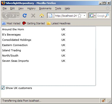 repository pattern search criteria getting started with the repository pattern in silverlight