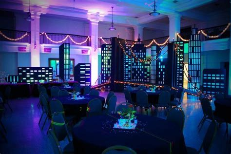 themed party lights bright lights big city themed party idea for city lights