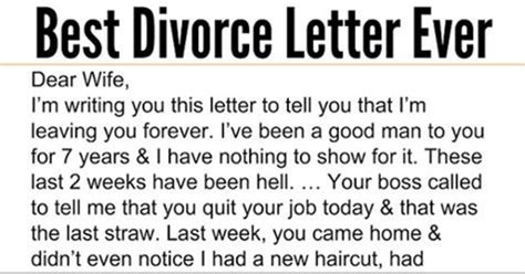 Best Divorce Letter Cinnamon Ring Husband Admits To Sleeping With Wife S But Response Is The Best Thing I Ve Read