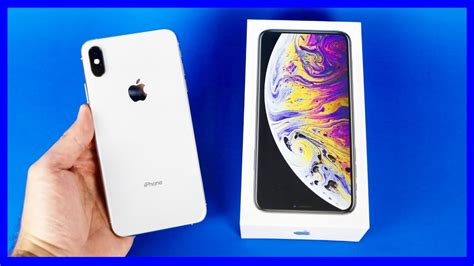 apple iphone xs max gb silver unboxing iphonexsmax