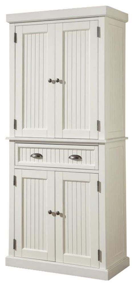 Kitchen Armoire Cabinets by Nantucket Pantry Distressed White Farmhouse Pantry