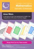 area of shapes | card game for learning how to measure the