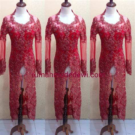 Kebaya Kartini Payet Lengan Panjang kebaya modern merah panjang payet