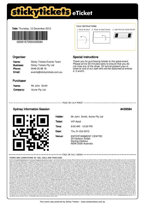 ticket receipt template 28 images doc 25503300
