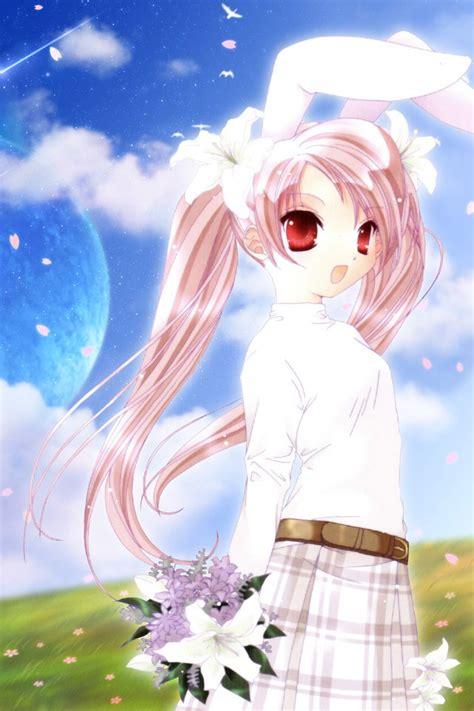 anime girl cartoon wallpaper cute cartoon bunny girl wallpaper free iphone wallpapers