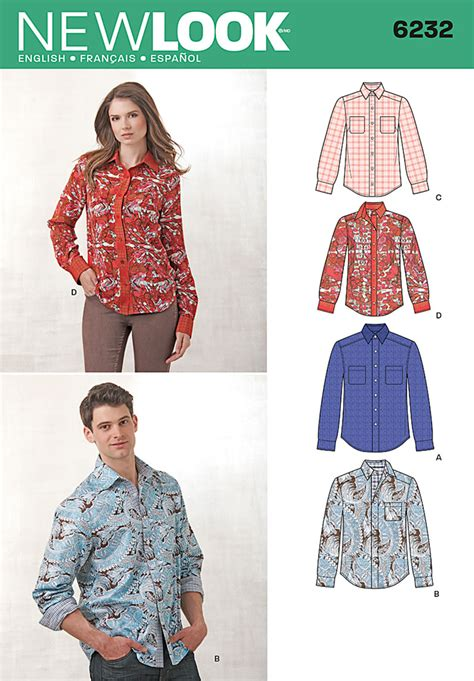 pattern review best patterns 2013 new look 6232 misses and men s button down shirt