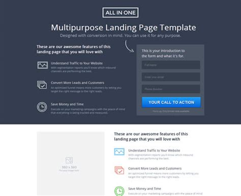 one page landing page template 21 best landing page unbounce templates webdesignboom