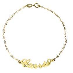 gold name bracelets gold carrie name bracelet