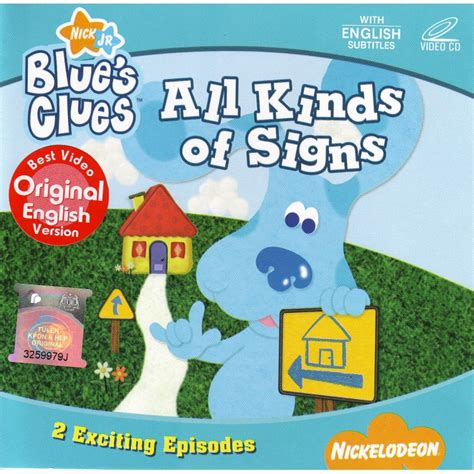 Vcd Original Baby Songs Animals blue s clues all kinds of signs vcd