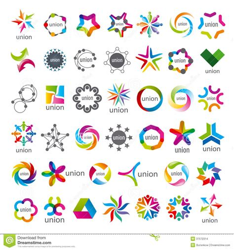 Collection Of Vector Logos Union Stock Images   Image