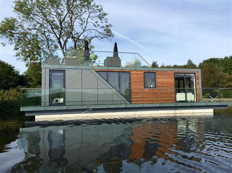 house boat living beautiful prefab houseboats let you live on the water with