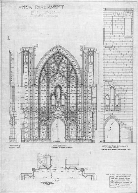 Plans Elevations Sections And Details Of The Alhambra Architectural Drawing Lighthouse The Details On These