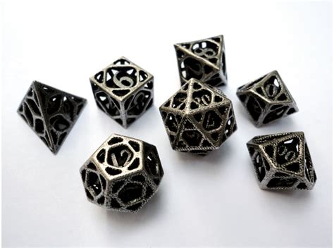 Dragon Chess Set by Seven Days Of Games 3d Printed Dice Sets Shapeways Magazine