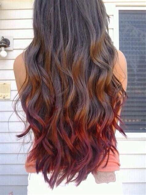 dye bottom hair tips still in style brown hair red ombr 233 hair ideas pinterest natural