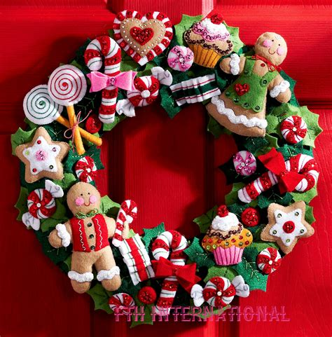 cookies candy wreath bucilla felt christmas home decor