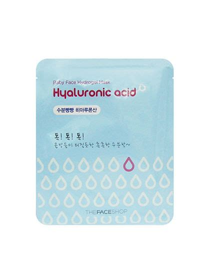 Harga The Shop Baby Hydrogel Mask Hyaluronic Acid 11 korean products that ll transform your skin