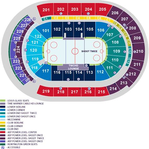 nationwide arena seating nationwide arena seating chart images