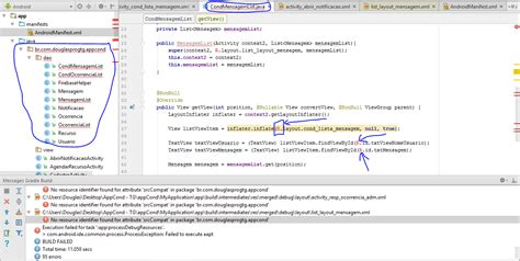 android layout xml not found android error 44 no resource identifier found for