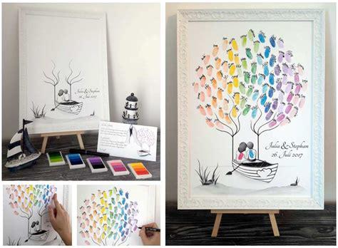 Hochzeit Fingerabdruck by Fingerabdruck Baum Wedding Tree Personalisierte Geschenke