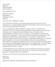 cover letter for airline flight attendant cover letter 8 free word pdf format
