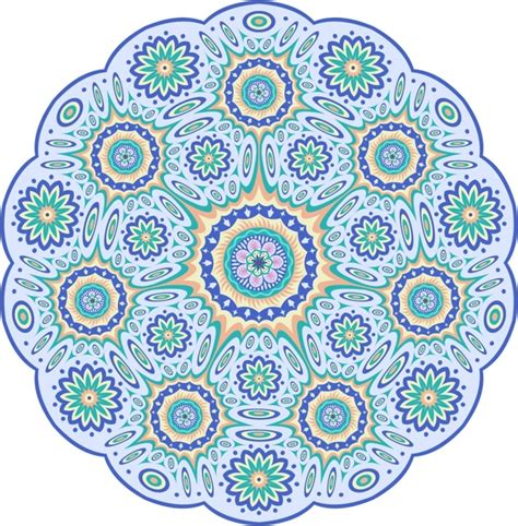 svg pattern circle colorful mandala pattern circle vector illustration free