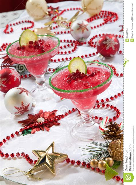 frozen pomegranate margarita frozen pomegranate margaritas stock images image 35657864