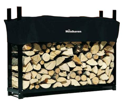 woodhaven 60 wrc firewood rack with seasoning cover 5' x 4'