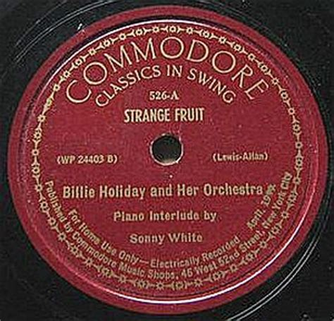 strange fruit » billie holiday
