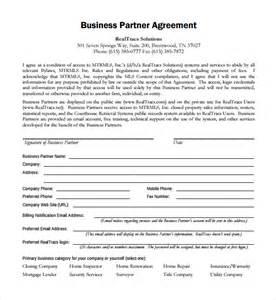 Business Partner Agreement Template sample business partner agreement 7 free documents