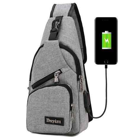 Tas Ransel Laptop Oxford Pria Usb Charger Port Gadged Backpack tas selempang dengan usb charger port gray jakartanotebook