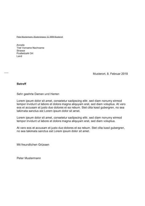 Brief Zu Lieferverzug briefvorlage schweiz sichtfenster links rechts muster vorlage ch