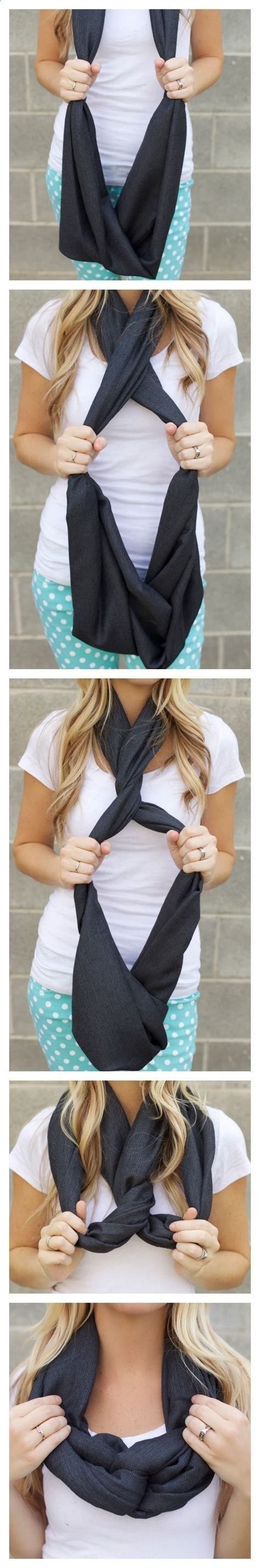 Ways To Tie An Infinity Scarf 17 Best Images About Scarfs On Circle Scarf