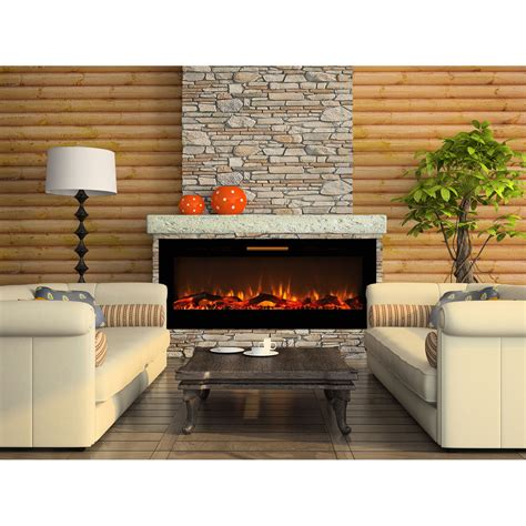 electric in wall fireplace elite 60 inch fusion log built in smokeless wall mounted electric fireplace